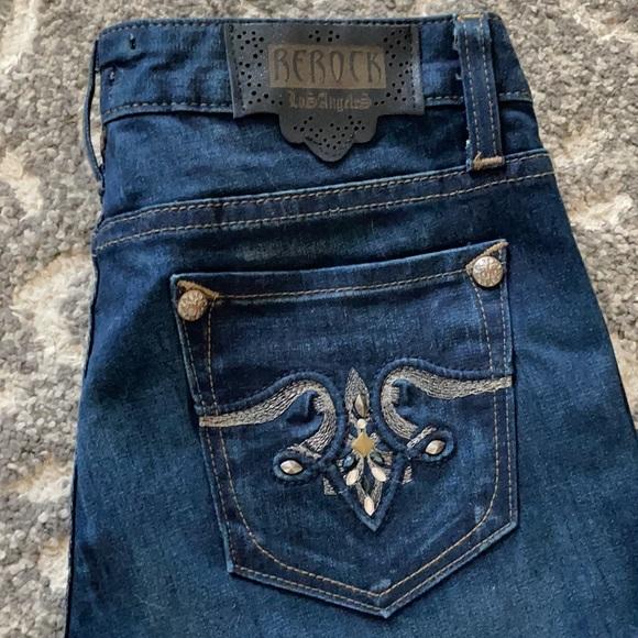 Rerock for express skinny jeans! Barely worn! Sz 8